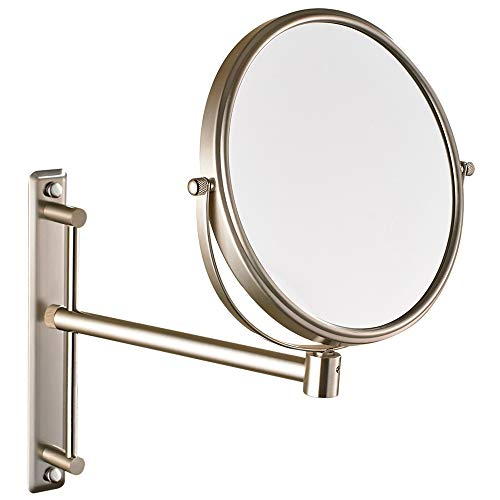 NiceVue 8 Inch Double-Side Wall Mounted Mirror Magnified 10x Makeup and Shaving - Bathroom Height Standard Mirrors