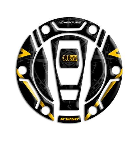 Tankdekselbescherming van hars, 3D, compatibel met BMW R 1250 GS Adventure 2021 GP-705 (40e verjaardag)