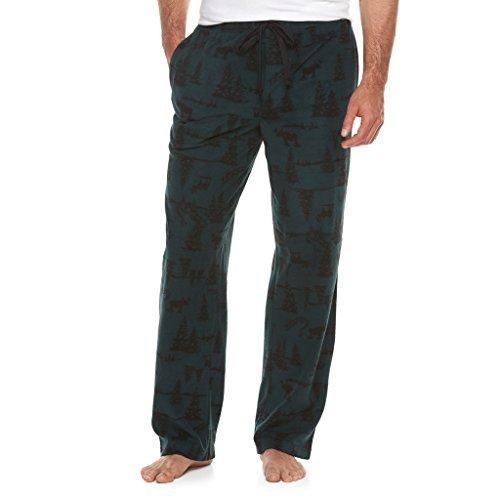 Croft & Barrow Moose & Pine Trees Brushed Fleece Sleep Lounge Pants - X-Large