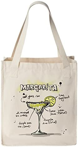 original design margarita bag polyester tote bag heat transfer tote bag margarita themed gift cocktail tote bag Margarita tote bag