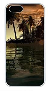 3D islands and tree awesome For Iphone 5/5S Phone Case Cover PC White for For Iphone 5/5S Phone Case Cover