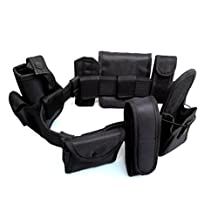 Police Security Tactical Modular Equipment System Security Military Tactical Duty Utility Belt For Black Law Enforcement 8-In 1 Set