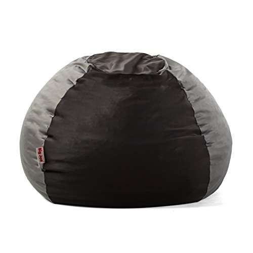 Big Joe 1175282 Kushi Bean Bag Chair, Jet Black/Charcoal Grey