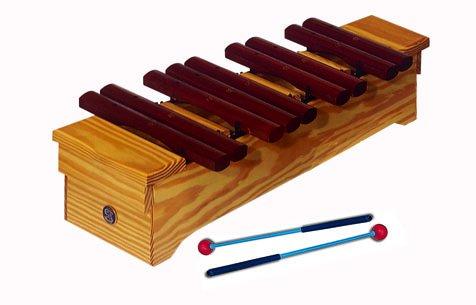Xilófono soprano, Palo rojo, parte cromática