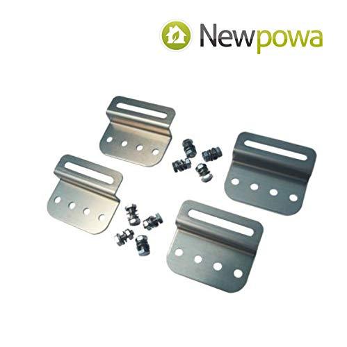 Newpowa Solar Panel Mounting Bracket Universal Flat Mounts Z Roof Wall