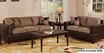 Seattle 2 Pcs Sofa And Loveseat Living Room Set In Chocolate Color. Part 48