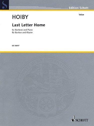 Download Last Letter Home: Solo Version for Baritone and Piano PDF