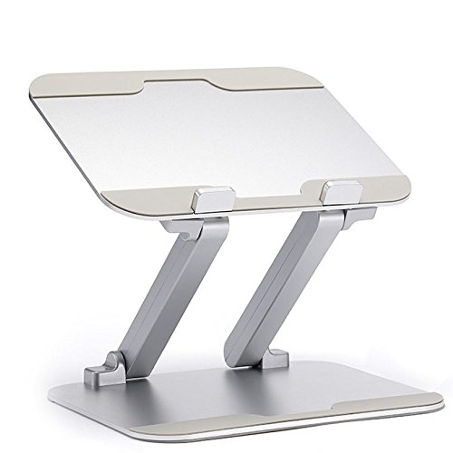 Price comparison product image NQFL Laptop Stand GWDZX Cooling Stand Desktop Stand Cooling Stand Thermal Pad Laptop Table Perfect Gift Reading Rack, Silver-2721cm