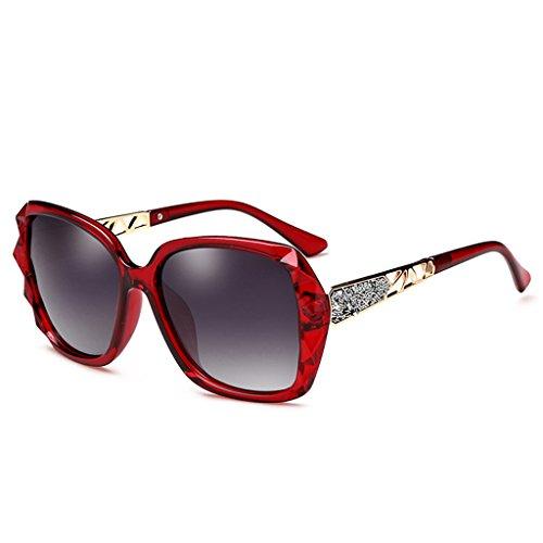 65mm la polarizadas Color Calle sol Elegante Mujer Wayfarer Retro Vino rojo Gafas Moda de Femeninos Purple de YA1wqxW7Fv