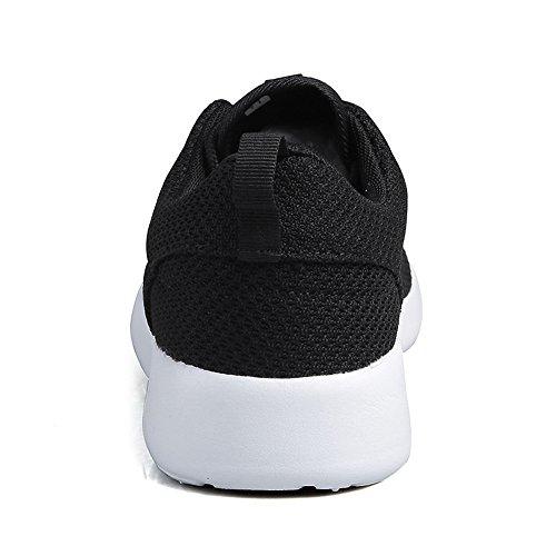 Noir Dcontractes Femmes Hommes Norulb Baskets Sport Chaussures Blanc Running De Lgres q8z1Sx8w5