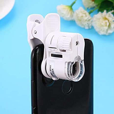 JINHONGH 60X teléfono móvil Microscopio Lupa LED Herramientas de ...