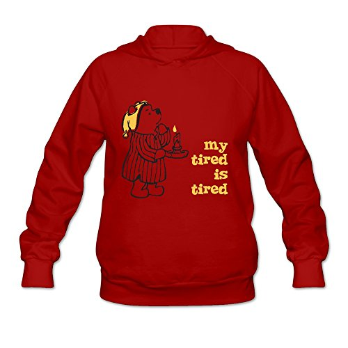Winnie The Pooh Hoodies For Women 100% Cotton L Red]