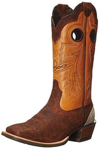 Ariat Mens Wildstock Western Cowboy Boot Grov Tegel / Citrus
