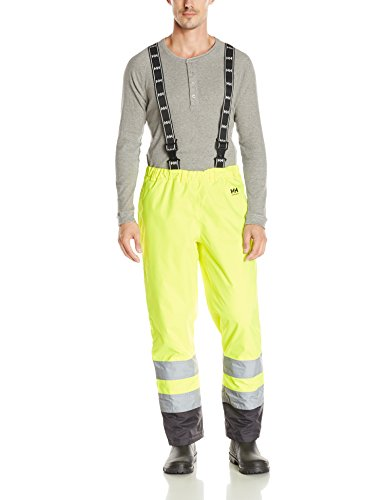 Helly Hansen Workwear Men's Alta High Visibility Insulated Pant, EN471 Yellow/Charcoal, Medium