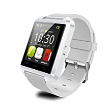 U80 Bluetooth Wrist Smart Watch Phone Mate Handsfree Call For Smartphone Outdoor Sports Pedometer (White)