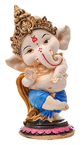 FeelOrna handicrafts and jewellery Handcrafted Resine Little Ganesh Dancing Sculpture | Showpiece for Home & Office…