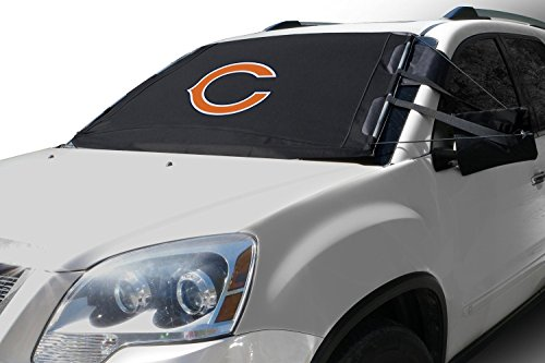 FrostGuard NFL Premium Winter Windshield Cover for Snow, Frost and Ice - Cold Weather Protection for Your Vehicle – Chicago Bears, Standard Size