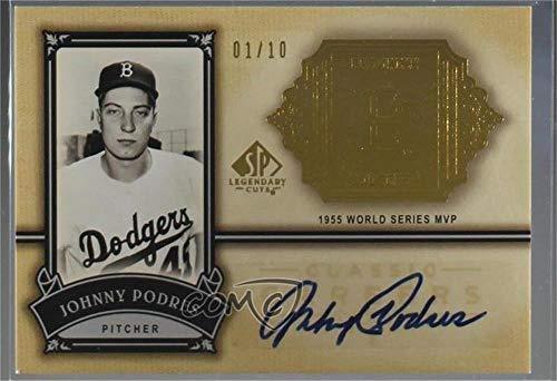 Johnny Podres #1/10 (Baseball Card) 2005 SP Legendary Cuts - Classic Careers - Gold Autographs [Autographed] #CC-JP