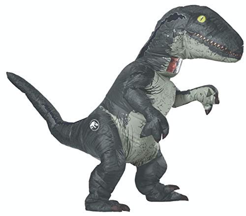 Tv Themed Costumes (Rubie's Adult Official Jurassic World Inflatable Dinosaur Costume, Velociraptor with Sound,)