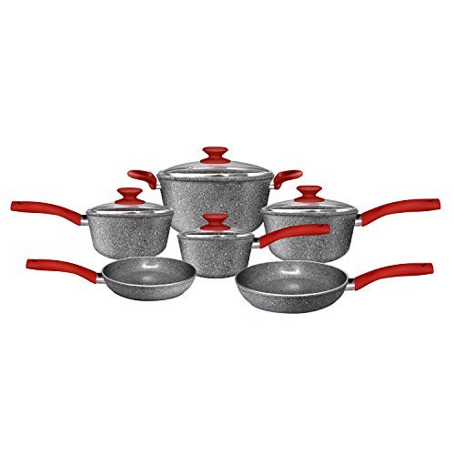 CeraPan Marble Hill 10 Piece Set Aluminum Cookware Set