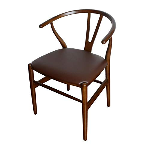 CJC Chair Amish Dining Ash Wood Side Chair, Weathered, Wishbone Style Woven Natural Woven Cord PU Seat (Color : T14) Ash Dining Room Cabinet