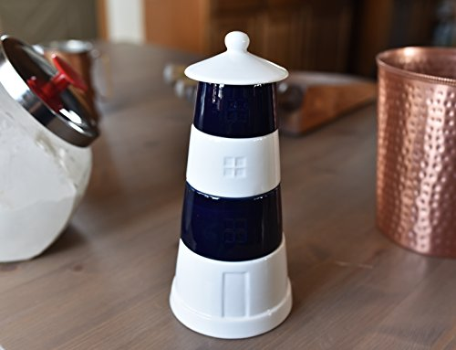 - KOVOT Ceramic Lighthouse Stackable Measuring Cups Set - Great For Summer Home or Beach House