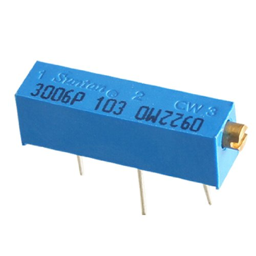 Uxcell a11090100ux0538 25x 103 10K Ohm Cermet Potentiometer Trim Pot, 15 Turn 3006 3006P