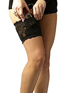2017 Lingerie-quality Black Stretch Lace Garter for Insulin Pump from PumpCases