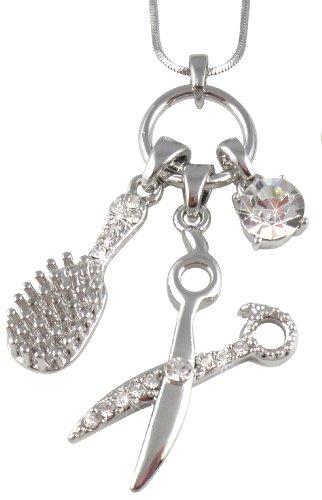 Crystal Barber Dresser Scissors Necklace product image