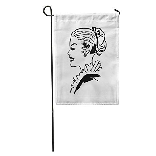 Dinzisalugg Garden Flag 1940S Ponytail Gal Retro 1950S 40S 50S Americana Beautiful Beauty Home Yard House Decor Barnner Outdoor Stand 12x18 Inches Flag]()