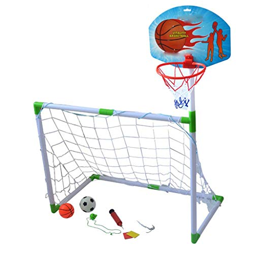 (LEOO Children's Basketball Stand Soccer Goal Basketball Stand Two-in-one)