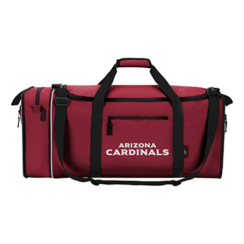 NFL Arizona Cardinals NFL Steal Duffel, Black, Measures 28