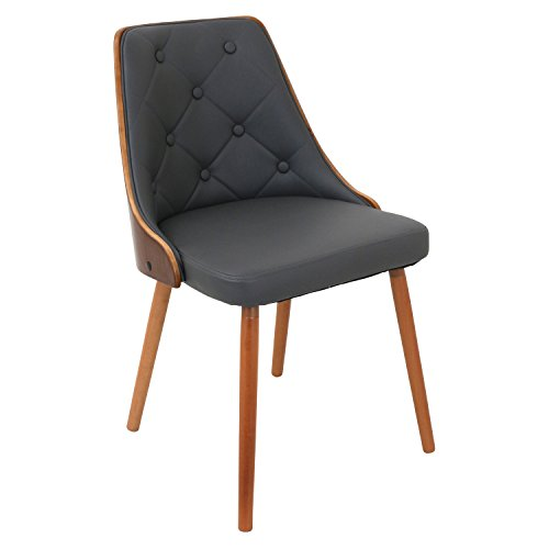WOYBR CH-JY-GNN WL+GY Bentwood, Pu Leather Gianna Chair For Sale