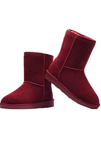 Sodial Inverno Nova De Borgonha Botas 37 r Quente longas Meninas Senhoras Mulheres Sapatos Inverno Semi RrHWprn