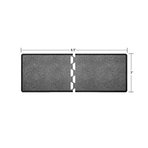 WellnessMats Puzzle Piece Collection R Series Granite Steel Anti-Fatigue Mat, 8.5 x 3 Foot