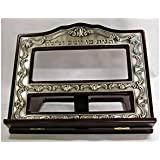 Wood & Pewter Book Stand / Shtender by Legacy Judaica
