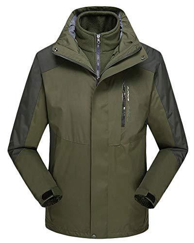 Al Hombre Abrigos 3 Interior Desmontable Aire 1 Forro Impermeable Libre Ejército En Verde Windbreaker Qitunc Mujer Chaqueta Del Esquí Montaña 8E7w5q