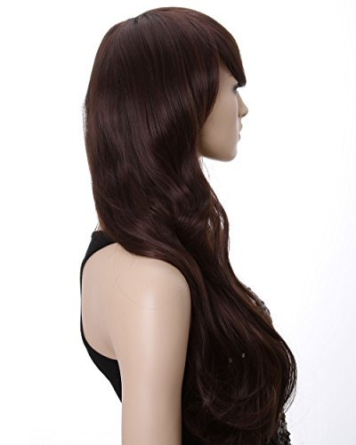 "Dreamworld 25"" Sexy Long Wave Hair Party Wig+wig Cap (Model: Jf010246) (Dark Brown)"