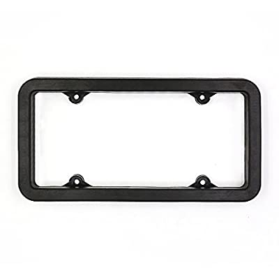 SELO Front Bumper Protection Shock Absorbing Flexible Guard Rubber License Plate Frame Cover