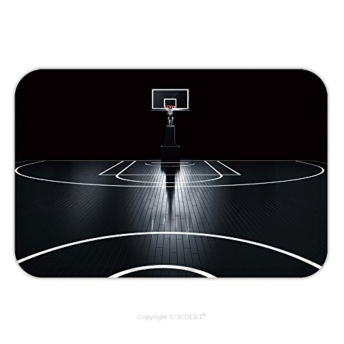 Flannel Microfiber Non-slip Rubber Backing Soft Absorbent Doormat Mat Rug Carpet Basketball Court Photorealistic D Illustration Of A Sport Arena Background 404767045 for Indoor/Outdoor/Bathroom/Kitche