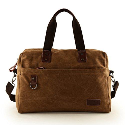 Bolsa de viaje/Bolso de la lona/Bolsos de hombre/Bandolera grande/Bolso del ocio al aire libre/bolso de hombro inclinado/mochila-A A