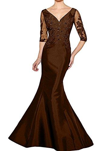 Etuikleider Braut Standsamt Kleider Abendkleider Partykleider Brautmutterkleider Lang Braun Lila Figurbetont La mia Festlichkleider ROIqnT