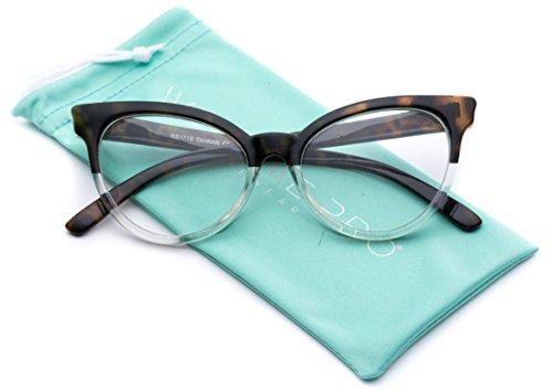 WearMe Pro - Non-Prescription Cat Eye Clear Lens Glasses for - Non Glasses Nerd Prescription
