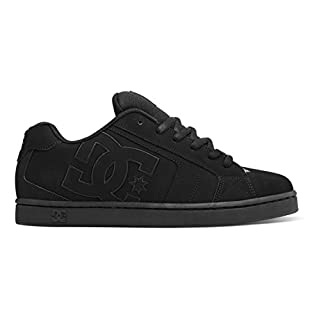 DC Men's Net Lace-Up Shoe,  Black/Black/Black, 10 D D US