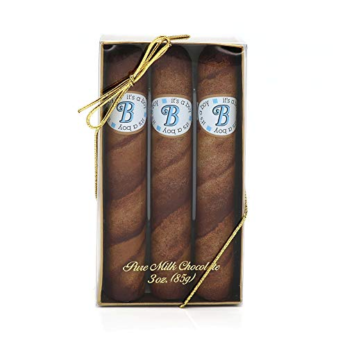 """It's a Boy"" Royale Milk Chocolate Cigars in 3 Pc Cigar Gift Box made in Connecticut"