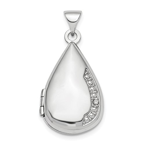 Diamond Heart Drop Pendant - ICE CARATS 925 Sterling Silver Diamond 21mm Teardrop Photo Pendant Charm Locket Chain Necklace That Holds Pictures Shaped Fine Jewelry Ideal Gifts For Women Gift Set From Heart