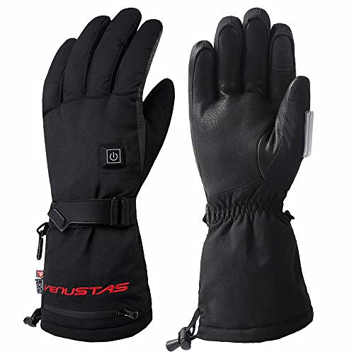 Venustas [2019 New] Heated Gloves for Men and Women, Rechargeable Heated Gloves and Winter Gloves ski Gloves Heat up to 10 Hours (Best Heated Motorcycle Gloves 2019)