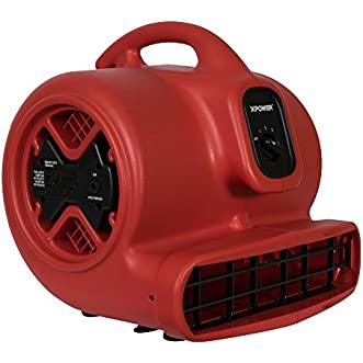 XPOWER X-615A 1.5 Amp 1050 CFM Air Mover with GFCI Power Outlets