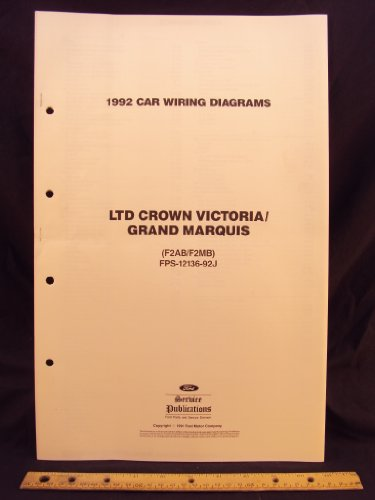1992 FORD LTD Crown Victoria & MERCURY Grand Marquis Electrical Wiring Diagrams / (Mercury Grand Marquis Wiring Diagrams)