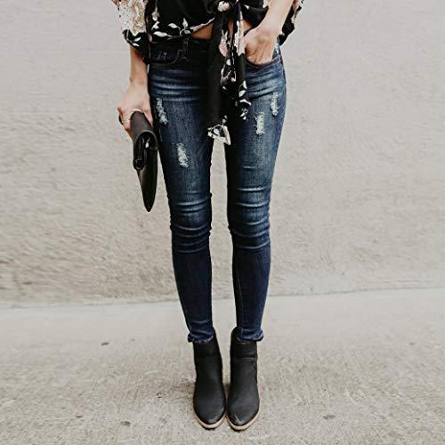 Ropa Skinny STRIR Jeans Pantalones Pantalones Cintura Pantalones Push Up Vaqueros Elástico Vaquero Alta Mujer Mujer H4yq7dW4c